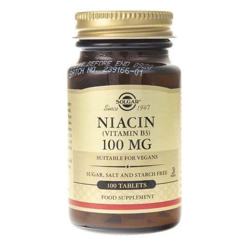 Tabletki Solgar Niacyna 100 mg - 100 tabletek