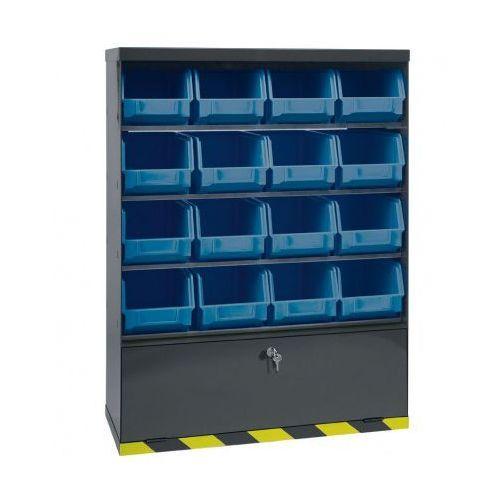 Artplast Szafki z plastikowymi pojemnikami i szufladą, 16 boksów