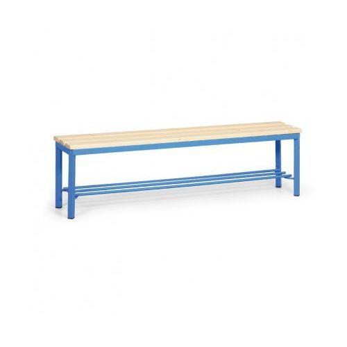Ławka szatniowa z półką, siedzisko - listwy, 1500 mm