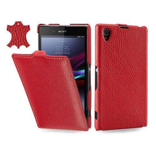 Skórzane etui z klapką Stilgut UltraSlim - czerwone - Sony Xperia Z1