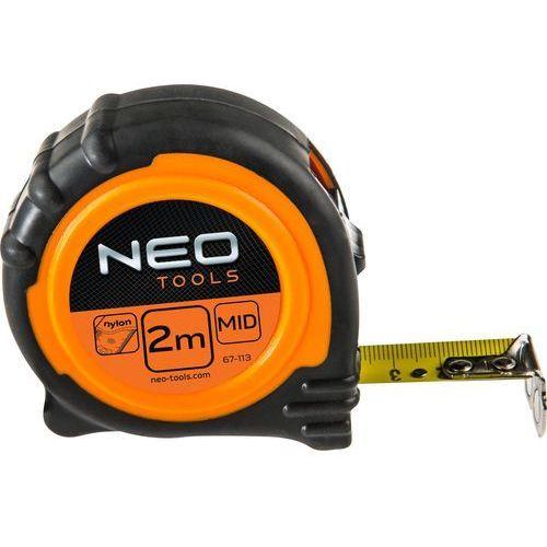 Miara zwijana NEO 67-115 stalowa z magnesem 25 mm (5 m), 67-115/TOP