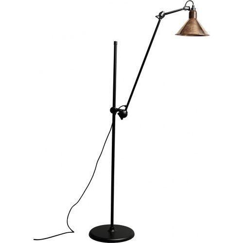Lampe Gras N°215 - lampa podłogowa - czarny/miedziany surowy, kolor czarny/miedziany