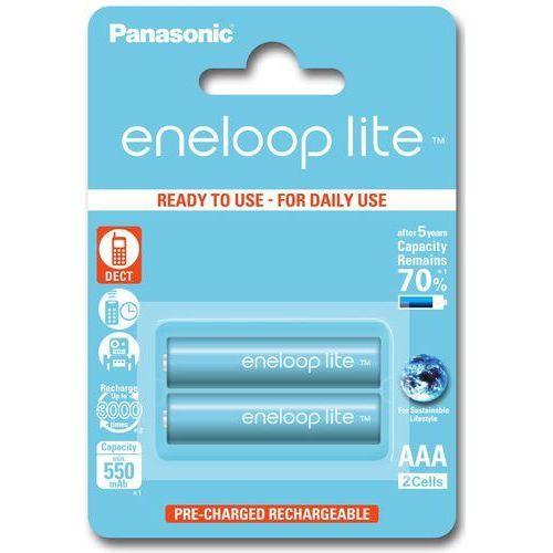 2 x akumulatorki Panasonic Eneloop Lite R03 AAA 550mAh BK-4LCCE/2BE (blister) z kategorii Akumulatorki