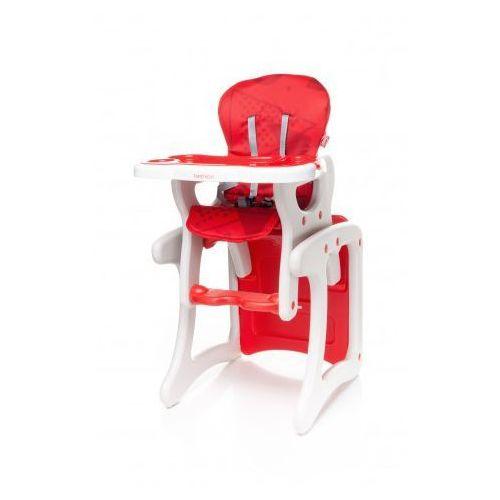 fashion krzesełko do karmienia + stolik 2 w 1 red nowość, marki 4baby