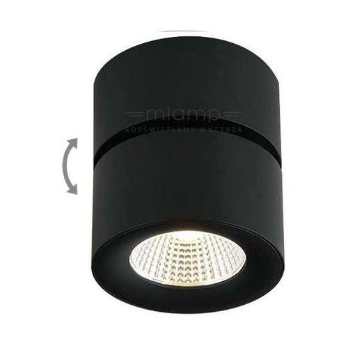 Orlicki design Spot lampa sufitowa mone nero minimalistyczna oprawa metalowa led 7w natynkowa siena tuba czarna