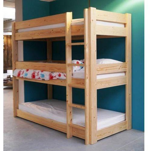 Gdzie Tanio Kupić łóżko Piętrowe Trzyosobowe Z Barierkami 160x80 Cm