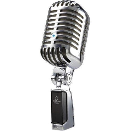 Mikrofon USB Renkforce DM-55S Retro, Komunikacja: Przewodowa z kablem