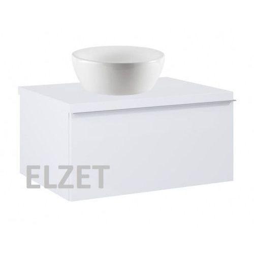 ELITA szafka Look 1S white pod umywalkę nablatową + blat 60 white 167075+166890, kolor biały