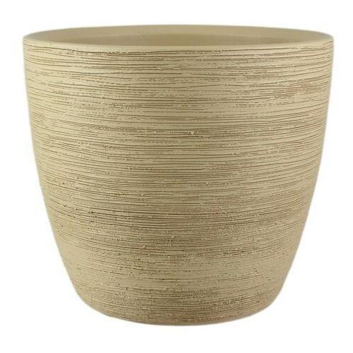 Osłonka doniczki Cermax 33 cm piasek