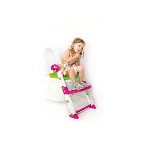 Rotho babydesign Rotho kidskit nocnik/nakładka na sedes 3w1 kolor różowy/biały/zielony