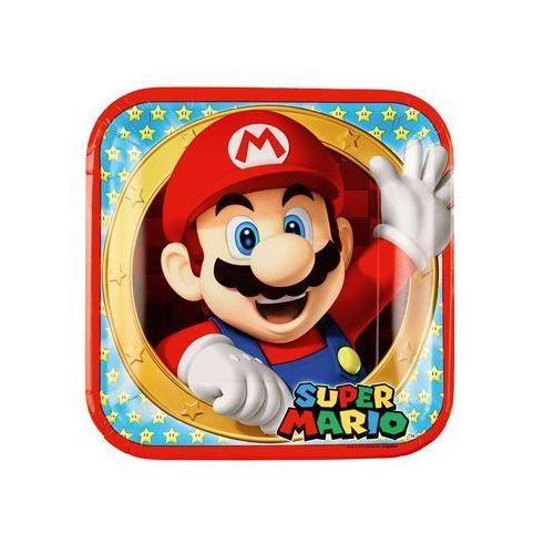 Talerzyki urodzinowe Super Mario Bros - 23 cm - 8 szt. (0013051695507)