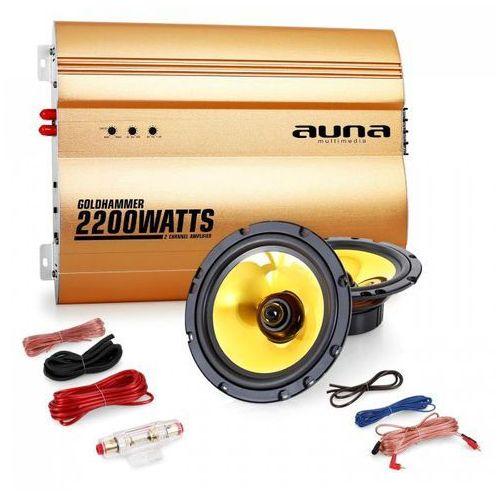 """Auna """"Golden Race V2"""" - 6,5"""" 2.0 samochodowy zestaw Hifi głośnik & wzmacniacz (4260365787923)"""