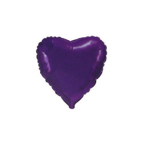 Balon foliowy serce fioletowe - 47 cm - 1 szt. marki Go