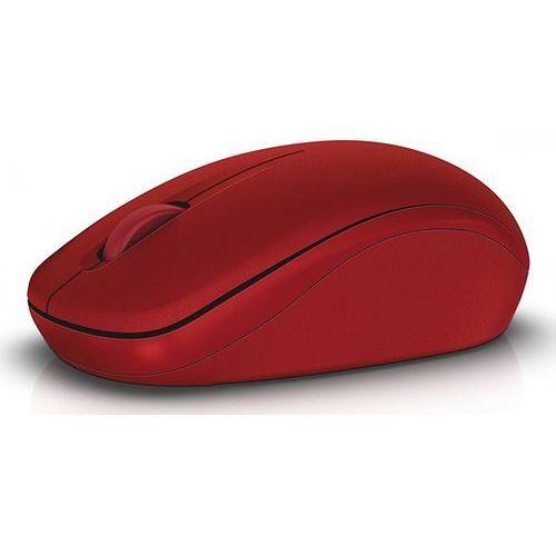 wm126 optyczna mysz bezprzewodowa (570-aaqe), czerwona marki Dell