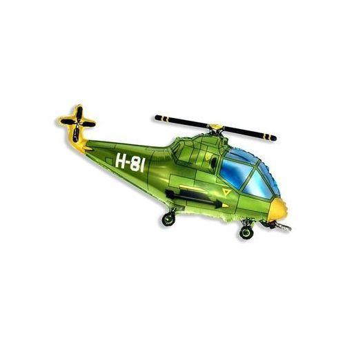 Twojestroje.pl Balon foliowy helikopter zielony 14'' 1szt (5905548936833)