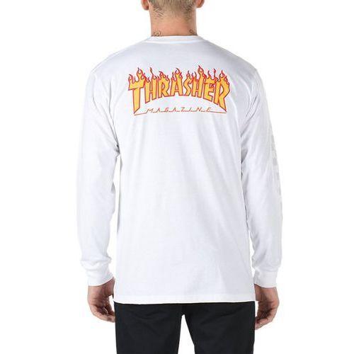 Koszulka - thrasher checker ls white (wht) rozmiar: xxl marki Vans