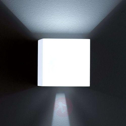 Helestra Zewnętrzna lampa ścienna siri, 44 led, matowa biel