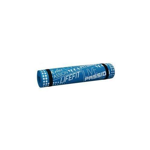 Mata yoga mat exkluziv, 100x60x1cm niebieska marki Lifefit