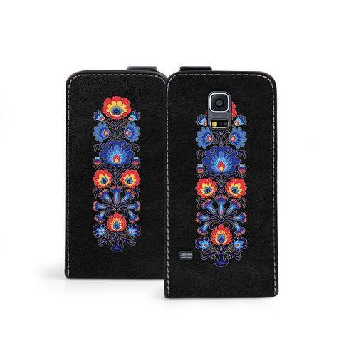Samsung Galaxy S5 Mini - etui na telefon Flip Fantastic - łowickie wzory, ETSM119FLFCEF013000