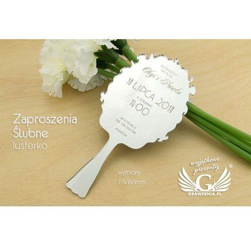 Grawernia.pl - grawerowanie i wycinanie laserem Zaproszenia ślubne - lusterko - grawerowane laserem - zap037