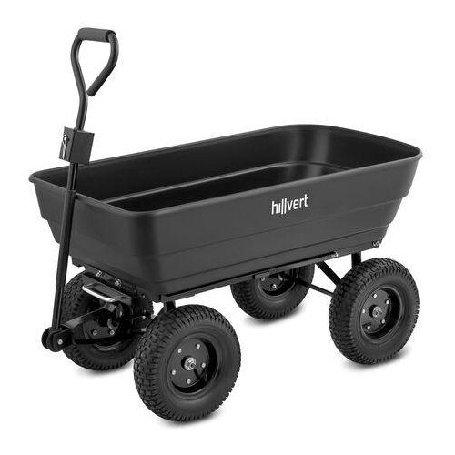Hillvert wózek ogrodowy - 350 kg - 125 l ht-q.bass-125g - 3 lata gwarancji