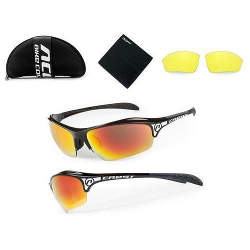 Accent Okulary crest czarny / kolor soczewek: nie dotyczy / rodzaj szkieł: standardowe (5906720870648)