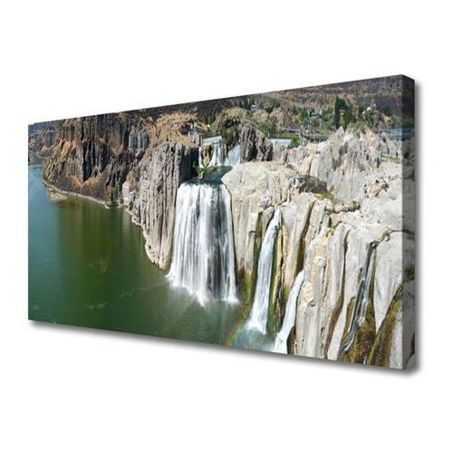 Obraz na Płótnie Wodospad Jezioro Krajobraz