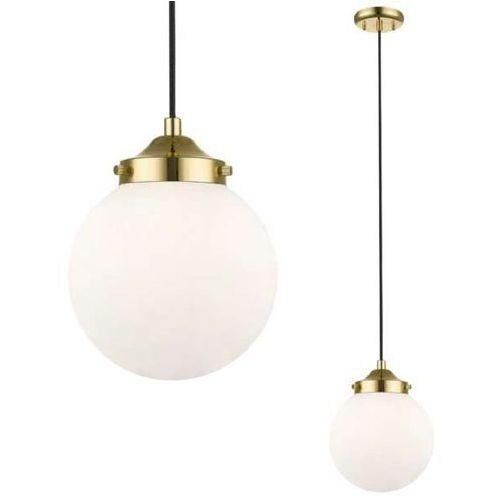 LAMPA wisząca RIANO P0454-01D-F7AA Zumaline loftowa OPRAWA szklany ZWIS kula ball złota czarna biała