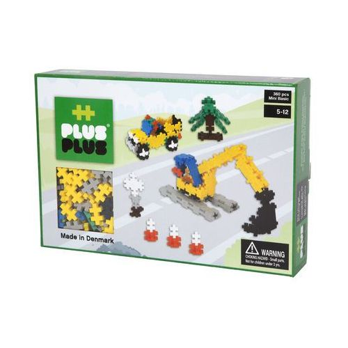 Klocki konstrukcyjne Plus-Plus Mini Basic - Roboty drogowe 360 elementów 3728