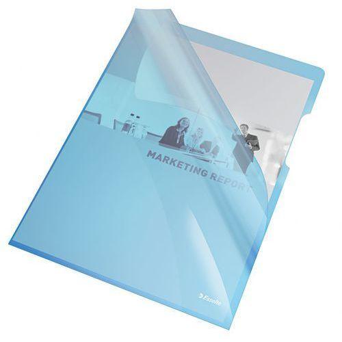 Esselte Ofertówka krystaliczna l 55435 a4/25szt.,150mic. niebieska