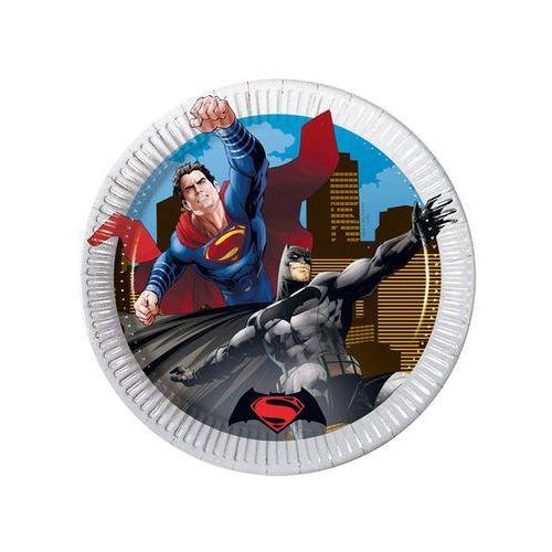 Talerzyki papierowe Batman vs Superman, 20 cm, 8 szt. - sprawdź w wybranym sklepie