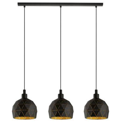 Lampa wisząca Eglo Roccaforte 97846 sufitowa 3x40W E14 czarna/złota, kolor Czarny