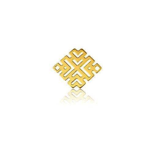 Zawieszka - łącznik Ażurowy Romb, złoto próby 585