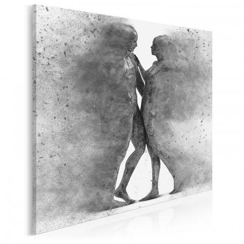 Metafizyka miłości w szarościach - nowoczesny obraz na płótnie - w kwadracie