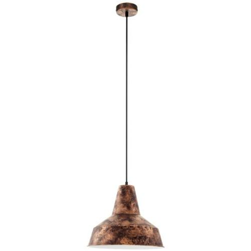 Eglo Lampa wisząca vintage somerton miedziana, 49388