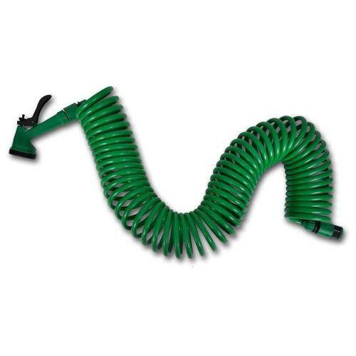 vidaXL Elastyczny, spiralny wąż ogrodowy z dyszami rozpylającymi 15 m
