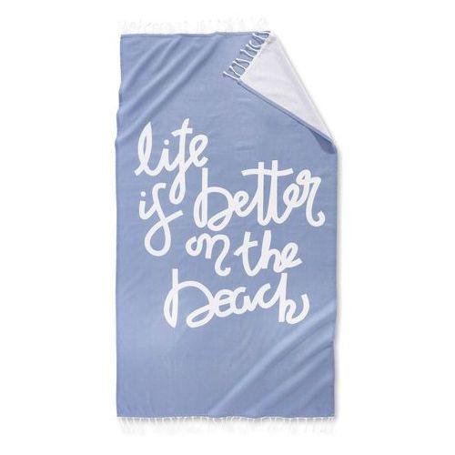 "Chusta hammam ""beach"" niebieskozielony marki Bonprix"