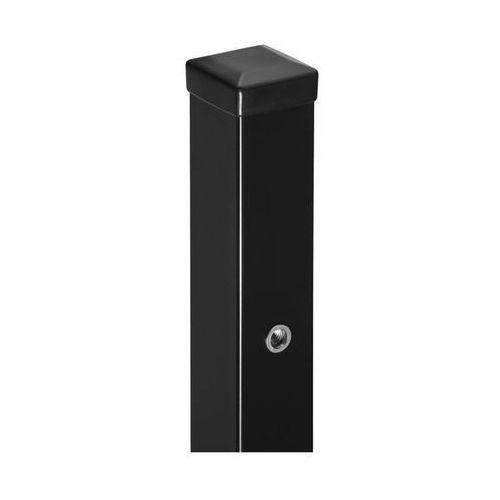 Polbram Słupek bramowo-furtkowy 7 x 7 x 200 cm czarny