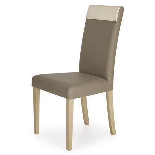 Krzesło skandynawskie Devon - beżowe, kolor beżowy