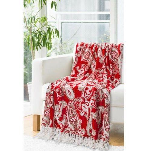 Eurofirany Koce janet red 150x200 cm kolor czerwony