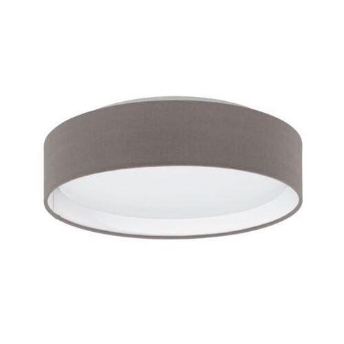 Plafon LAMPA sufitowa PASTERI 31593 Eglo okrągła OPRAWA abażurowa LED 12W grafitowo-brązowa (9002759315931)