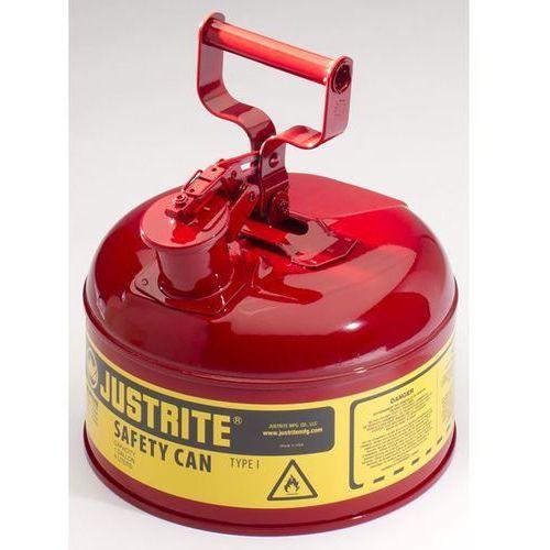 Bezpieczny pojemnik, blacha stalowa, poj. 4 l, czerwony. Z blachy stalowej. Prze