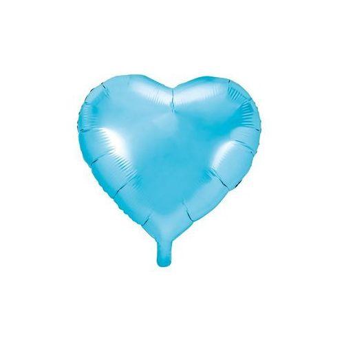 Party deco Balon foliowy serce błękitne - 45 cm - 1 szt.