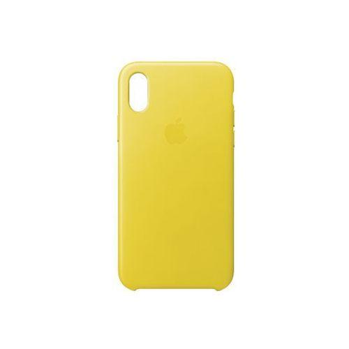 iphone x leather case - spring yellow mrgj2zm/a >> bogata oferta - szybka wysyłka - promocje - darmowy transport od 99 zł! marki Apple