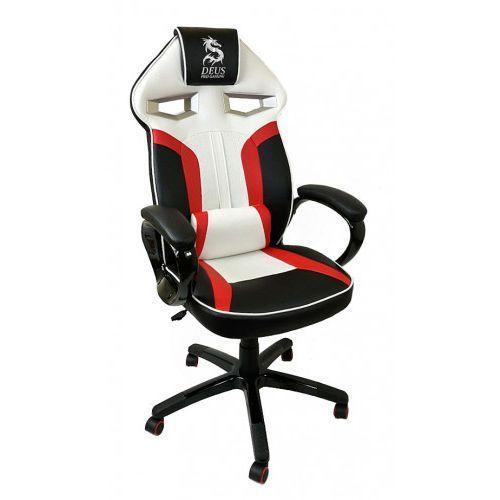 Zenga.pl Fotel obrotowy gamingowy dragon black/red/white