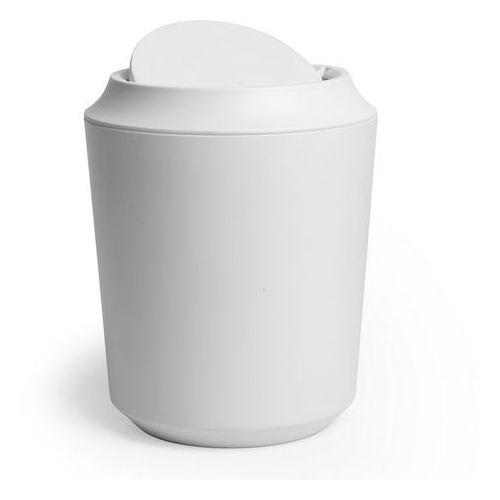 Umbra - kosz łazienkowy z pokrywką corsa - biały - biały
