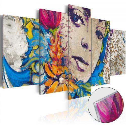 Obraz na szkle akrylowym - kwiatowa czarodziejka [glass] marki Artgeist