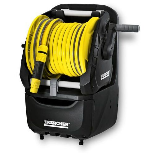 Bęben na wąż Premium HR 7.315 z wężem (15 m) + Spryskiwacz Plus + adapter G 3/4 + szybkozłącze Aqua Stop (4039784523432)