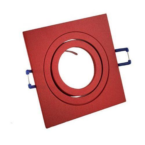 Ledart Oprawa halogenowa czerwona aluminium led ruchoma
