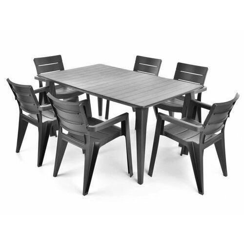 Hecht czechy Hecht anegada graphite 6 meble ogrodowe zestaw mebli ogrodowych stół + 6 krzeseł - ewimax oficjalny dystrybutor - autoryzowany dealer hecht
